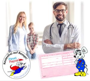 Mit einem Rezept vom Arzt, kann der Piesel-Piepser bei der Krankenkasse beantragt werden. Meist trägt die Krankenkasse die Kosten.